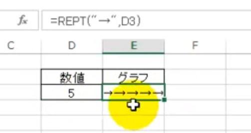 REPT関数でグラフを作る方法