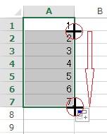 エクセルで連番をマウスで入力する方法