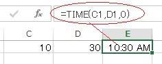 エクセルのTIME関数の使い方実例