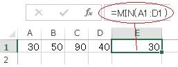 エクセルのMIN関数を使った実例