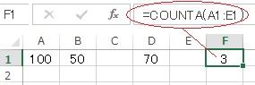 エクセルのCOUNTA関数の使い方実例