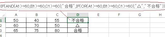 エクセルのAND+OR関数の使い方の実例