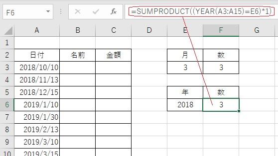 エクセルで年度別の集計をする方法