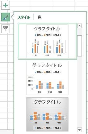 グラフのスタイルを選択する