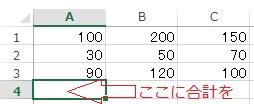 エクセルの計算元データ一の例