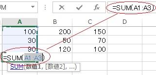 計算式の表示例