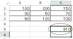 総合計を表示した実例